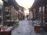 Coppersmith street at Bascarsija in sarajevo